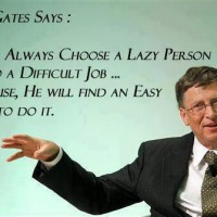 Gates has a point....